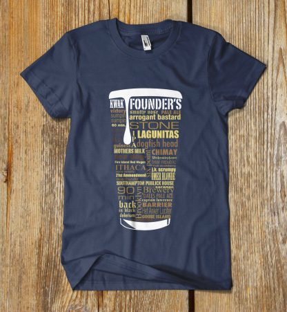 Craft Beer Typography Custom Shirt in Blue