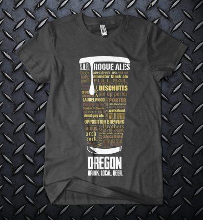 Oregon state Craft Beer Shirt in Dark Heather