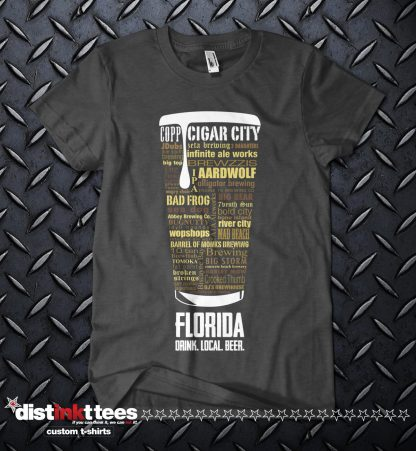 Florida state Craft Beer Shirt in Dark Heather