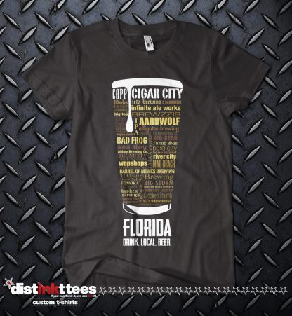 Florida state Craft Beer Shirt in Black