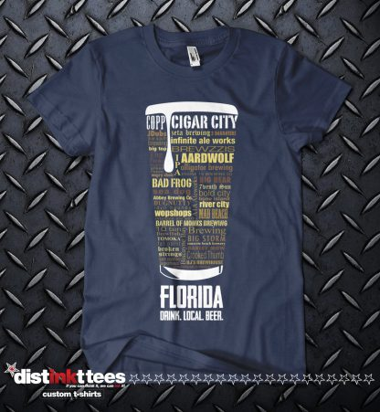 Florida state Craft Beer Shirt in Navy Blue