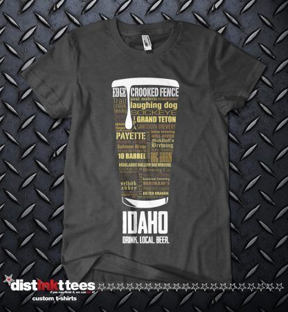 Idaho state Craft Beer Custom T-Shirt in Dark Heather