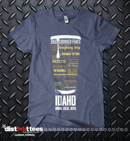 Idaho state Craft Beer Custom T-Shirt in Vintage Navy