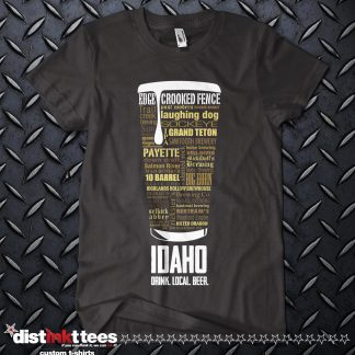 Idaho state Craft Beer Custom T-Shirt in Black