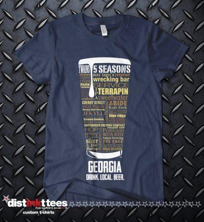 Georgia State Craft Beer Custom Shirt in Navy