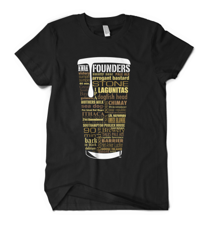 Craft Beer Typography Custom Shirt by Distinkt Tees Shop Grand Opening