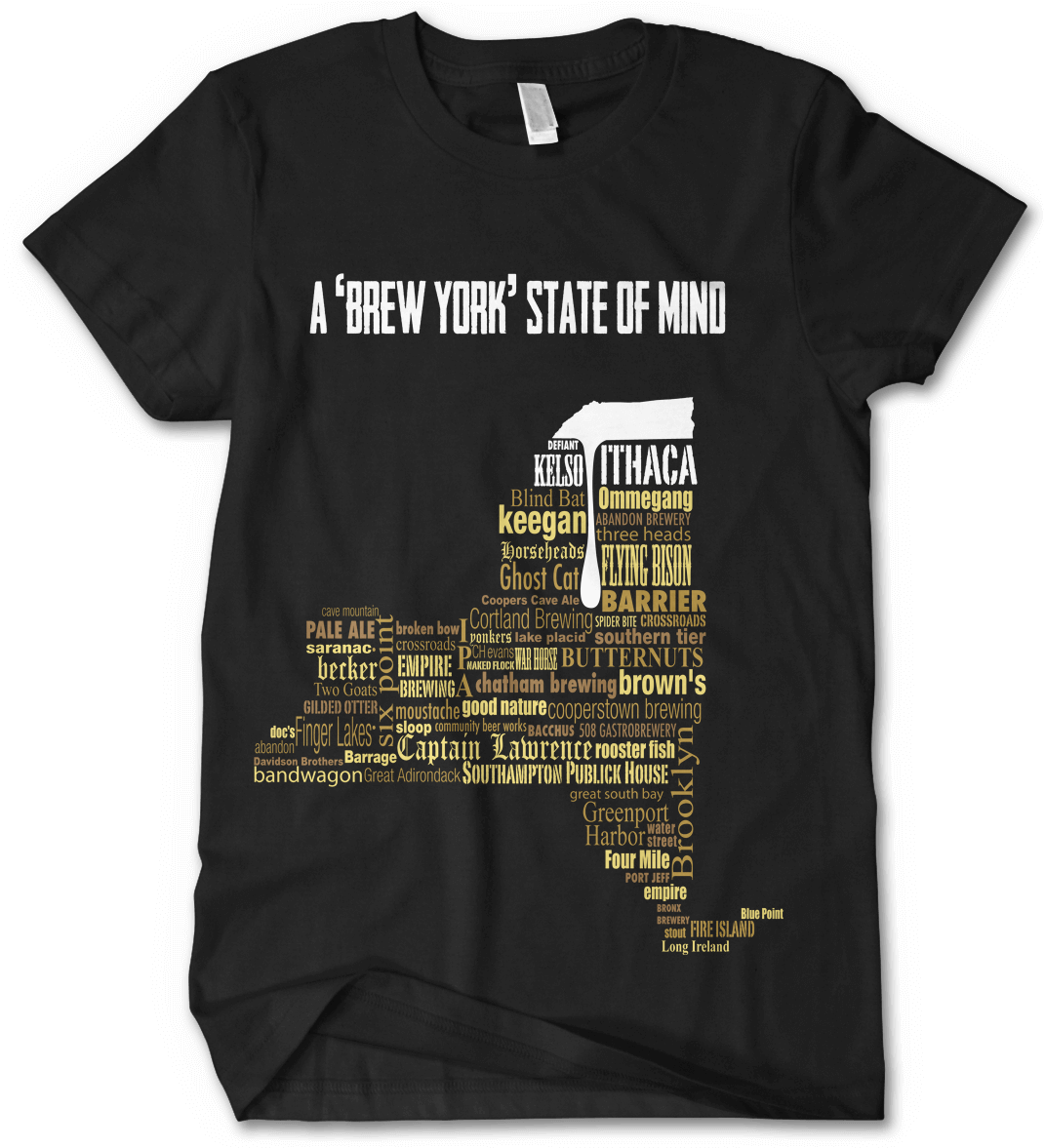 Brew York State of Mind New York Craft Beer Shirt