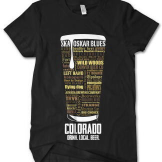 Colorado State Craft Beer Custom Shirt in Black by Distinkt Tees Ink