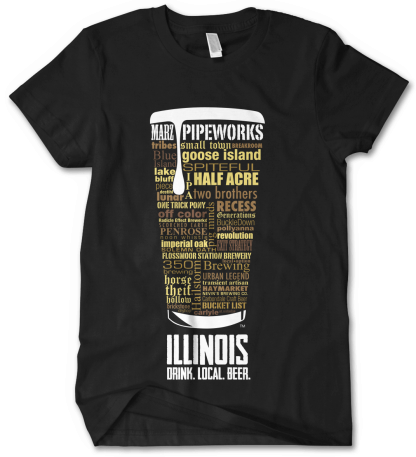 Illinois state Craft Beer Shirt