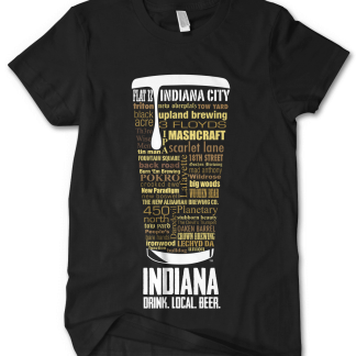 Indiana state Custom Craft Beer Shirt