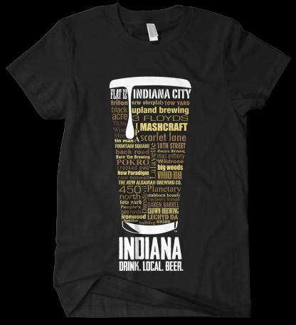 Indiana state Custom Craft Beer Shirt