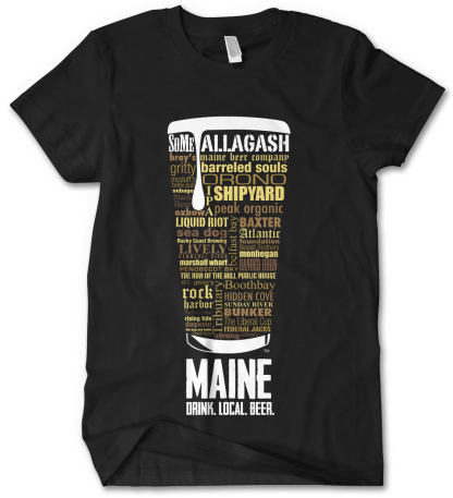 Maine state Craft Beer Shirt