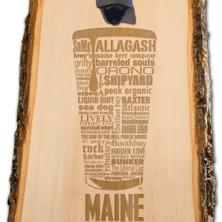Maine State Craft Beer Laser Engraved Custom Wooden Wall Mount Bottle Opener