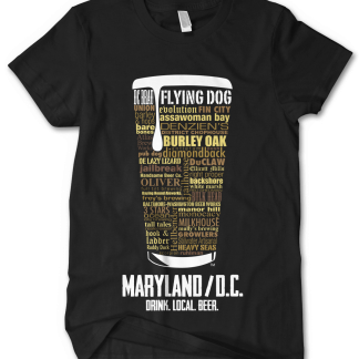 Maryland & Washington DC state Craft Beer Shirt