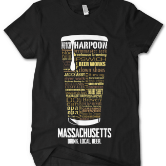 Massachusetts state Craft Beer Custom Shirt