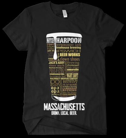Massachusetts state Craft Beer Custom Shirt