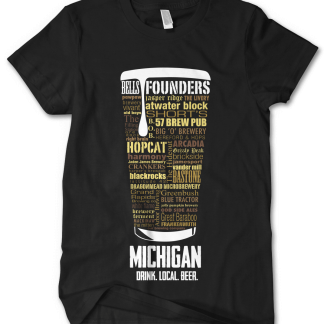 Michigan state Craft Beer Custom Shirt
