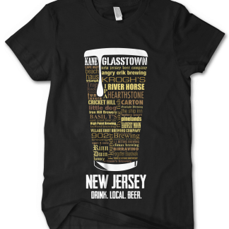 New Jersey State Craft Beer Custom Shirt in Black designed by Distinkt Tees Ink