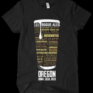 Oregon state Custom Craft Beer Shirt