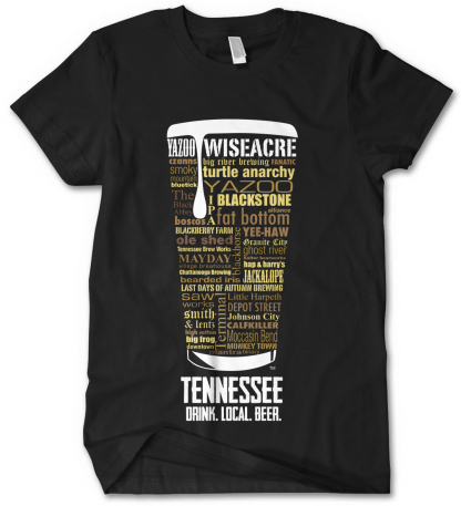 Tennessee state Craft Beer Shirt