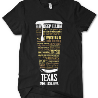 Texas State Craft Beer Shirt customized by Distinkt Tees Ink