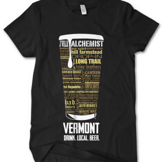 Vermont State Craft Beer Custom Shirt in Black designed by Distinkt Tees Ink