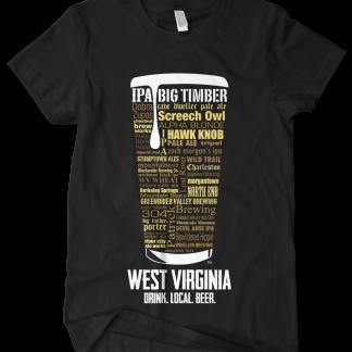 West Virginia state Custom Craft Beer Shirt