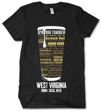 West Virginia state Custom Craft Beer Shirt