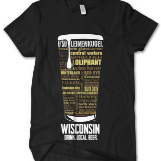Wisconsin state Custom Craft Beer Shirt