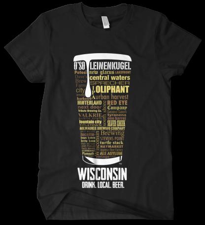 Wisconsin state Custom Craft Beer Shirt