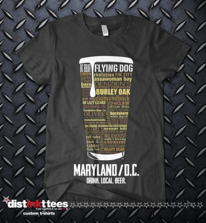Maryland & Washington DC state Craft Beer Shirt in Dark Heather