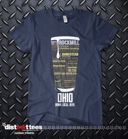 Ohio state Craft Beer Shirt in Navy Blue