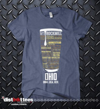 Ohio state Craft Beer Shirt in Vintage Navy
