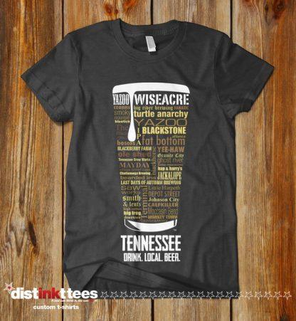 Tennessee state Craft Beer Shirt in Dark Heather