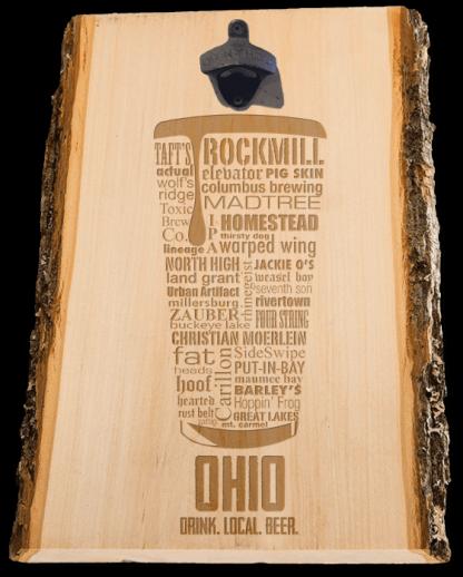 Ohio State Laser Engraved Craft Beer Custom Bottle Opener