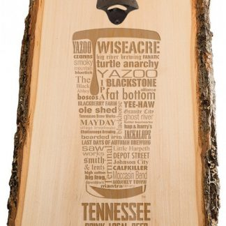 Tennessee State Craft Beer Laser Engraved Custom Wooden Wall Mount Bottle Opener