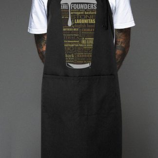 State Craft Beers Unisex Apron by Distinkt Tees Ink