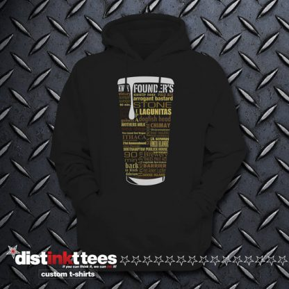 State Craft Beers Hoodie Sweatshirt in Black