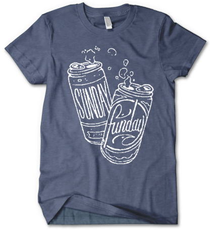 Sunday Funday Beer Drinkers Shirt by Distinkt Tees