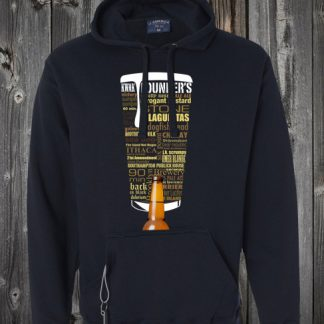 Craft Beer Sweatshirt Hoodie with Bottle Opener and Beer Holder