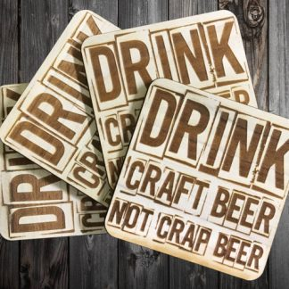Natural Wooden Custom Craft Beer Coaster