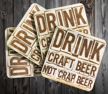 Natural Wooden Custom Craft Beer Coaster