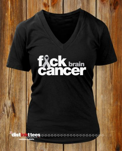 Fuck Brain Cancer Women's V-Neck T-Shirt