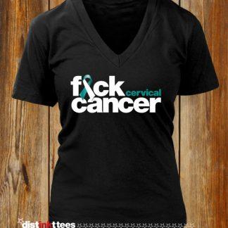 Fuck Cervical Cancer Women's V-Neck T-Shirt