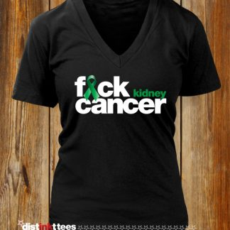 Fuck Kidney Cancer Women's V-Neck T-Shirt