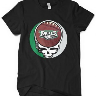 Philadelphia Eagles Grateful Dead Custom Printed T-Shirt