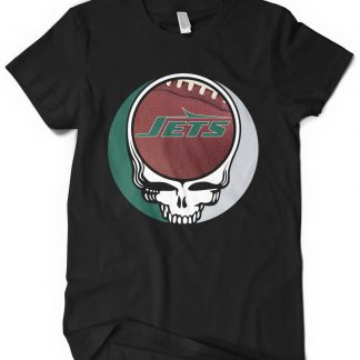 New York Jets Grateful Dead Custom Printed T-Shirt