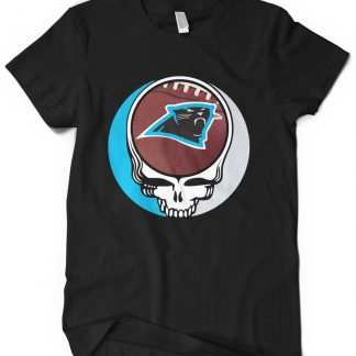 Carolina Panthers Grateful Dead Custom Printed T-Shirt