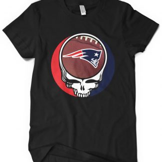 New England Patriots Grateful Dead Custom Printed T-Shirt