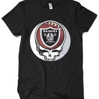 Oakland Raiders Grateful Dead Custom Printed T-Shirt